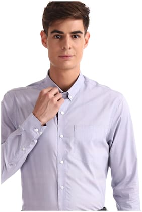 Men Super Slim Fit Checked Formal Shirt ,Pack Of Pack Of 1