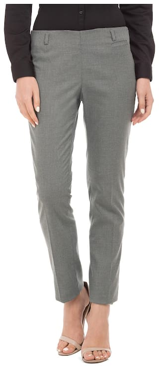 Arrow Elasticized Waist Tapered Fit Trousers