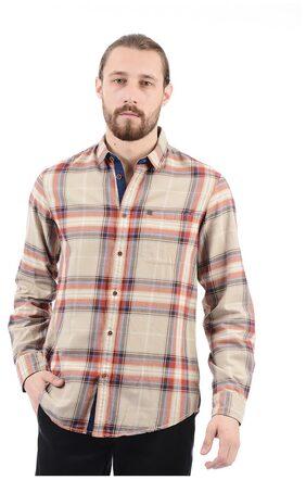 Arrow Jeans Men Checkered Full Sleeve Shirt