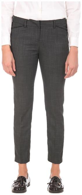 Women Solid Bootcut Pants