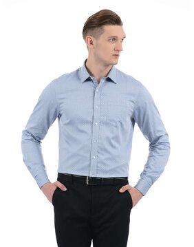 Arrow Men Slim fit Formal Shirt - Blue