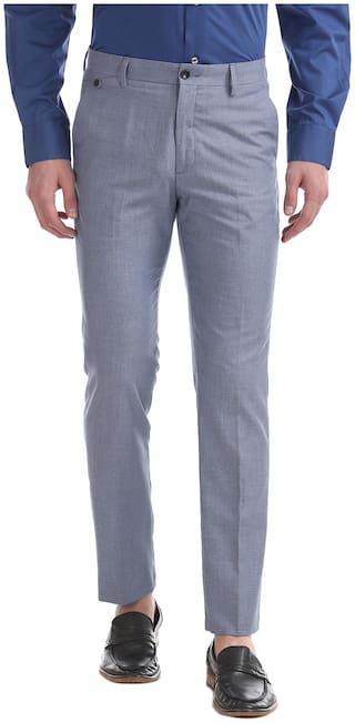Arrow Men Slim Fit ( Slim Fit ) Formal Trouser - Blue
