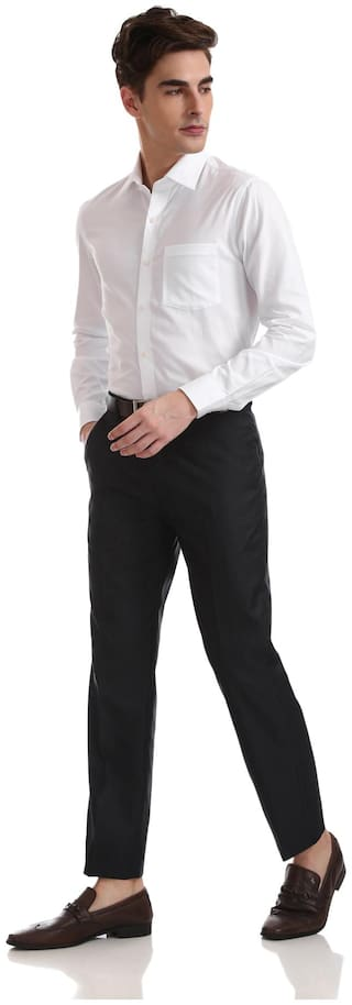 Arrow Men Slim fit Formal Shirt - White