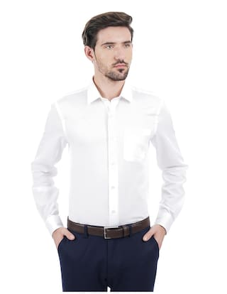 b1577a8a438f Buy Arrow Men Slim Fit Formal Shirt - White Online at Low Prices in ...