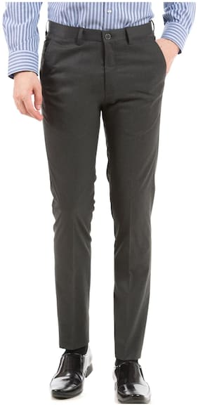 Men Skinny Fit Formal Trouser Pack Of 1