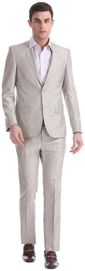 Arrow Men Rayon Regular Fit Suit - Grey
