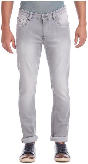 Men Slim Fit Mid Rise Jeans