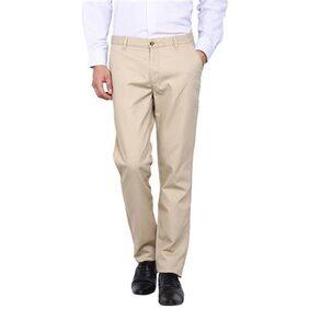 Arrow Sports Beige Men Slim Trousers