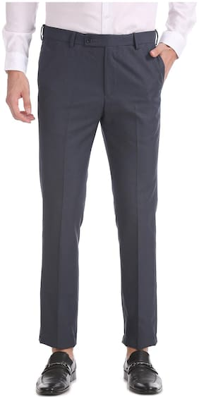 Men Tapered Fit Formal Trouser