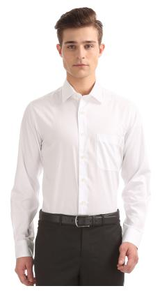 Arrow Men Regular fit Formal Shirt - White