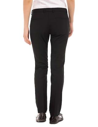 Woman Arrow Fit Trousers Black Polyester Mid Rise Regular OqxC4FAwq