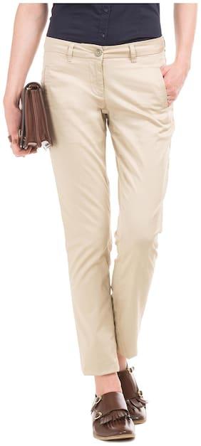 Arrow Women Regular fit Solid Regular trousers - Beige