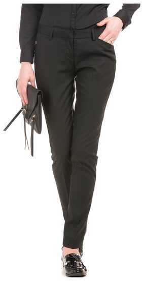 Arrow Woman Black Women Regular Trousers & Pants