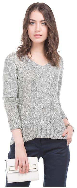Arrow Woman Grey Women Regular Sweaters & Pullovers
