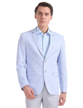 Arrow Men Polyester Slim Fit Blazer - Blue