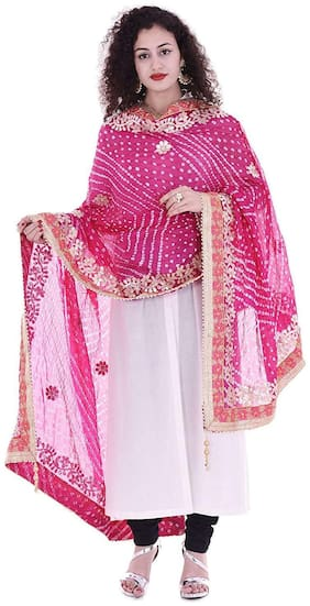 Art Silk Gotta Patti Dupatta