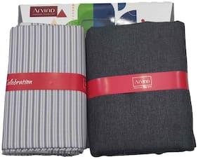 Arvind Men Viscose blend Vertical stripes Suiting - Multi