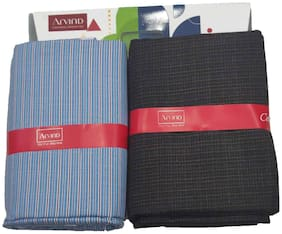 Arvind Men Viscose blend Vertical stripes Suiting - Multi