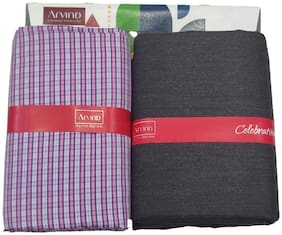 Arvind Men Viscose blend Checked Suiting - Multi