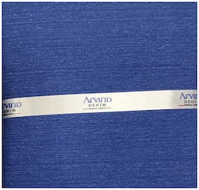 Arvind Men Denim Suiting - Blue