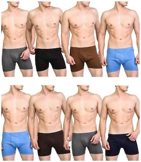 Men Cotton Solid Underwear ,Pack Of 8