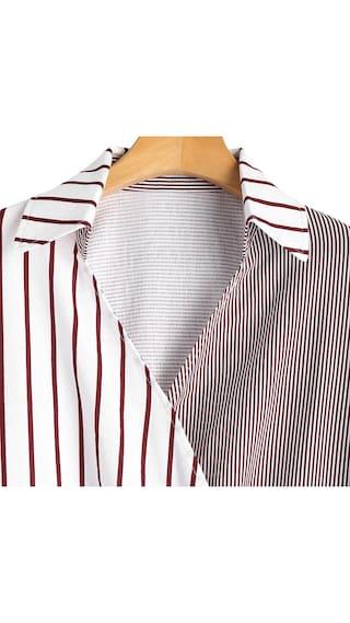 Asymmetrical Stripes Batwing Batwing Asymmetrical Stripes Blouse wTtxESzwq