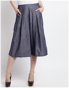 Ateesa Women Regular fit Solid Cullotes - Blue
