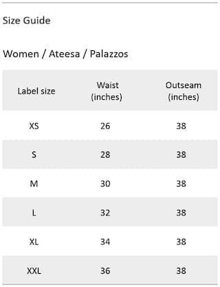 Plain Pattern Ateesa Palazzos Plain Ateesa wqFOCtE
