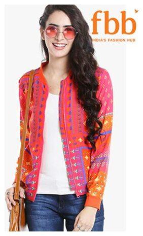 Ateesa Women Printed Regular Jacket Jacket - Multi