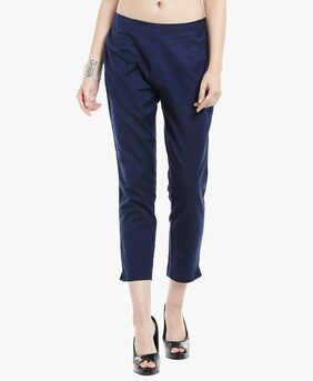 Ateesa Solid Ankle Length Pants for Women