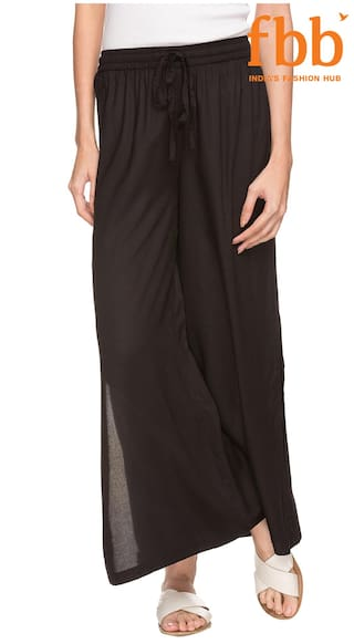 Ateesa Women's Black Daily wear Palazzo