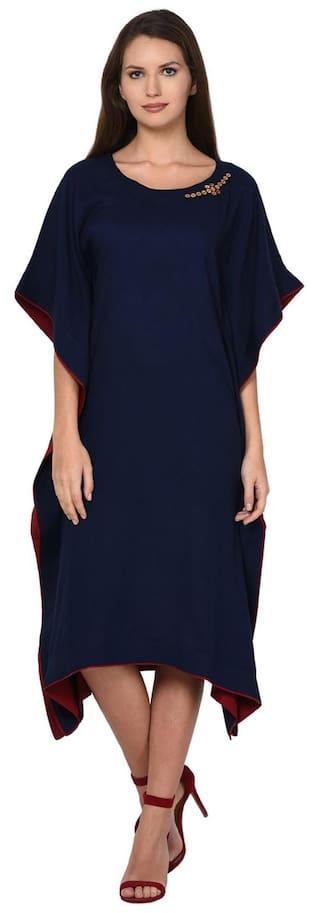 Aujjessa Navy Blue Kaftan Dress