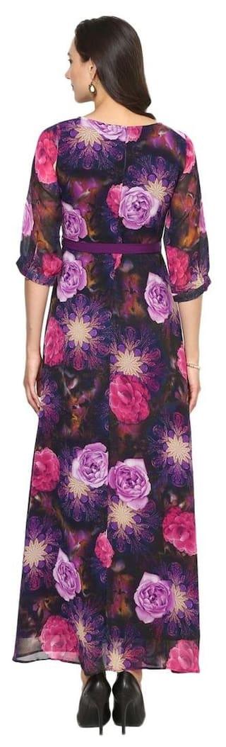 Aujjessa Maxi Purple A Multi Dress Line ZvZwrOxCq