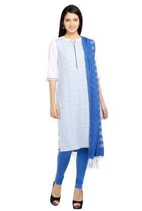 Aurelia Women Blue Cotton Kurta
