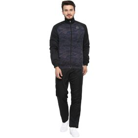Aurro Men Polyester Track Suit - Black