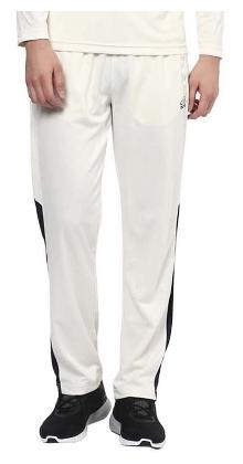 Aurro Men Polyester Blend Track Pants - White