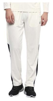 Aurro Men Polyester Blend Track Pants - White