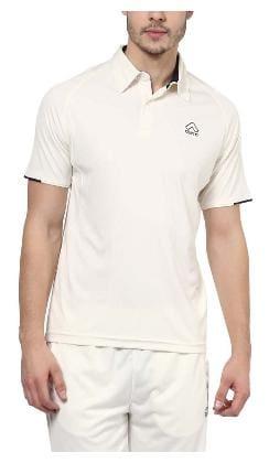 Aurro Men Polo Neck Sports T-Shirt - White