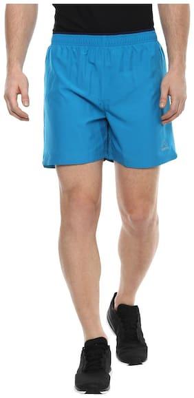 Aurro Sports Turquoise Men's Polyknit Shorts