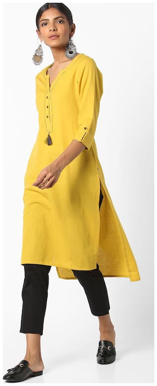 AVAASA By Reliance Trends Women Yellow Kurta