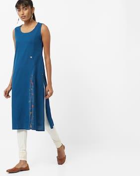 AVAASA By Reliance Trends Blue Kurta