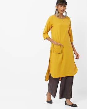 AVAASA By Reliance Trends Yellow Kurta