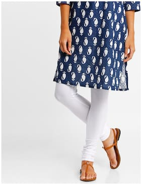 AVAASA By Reliance Trends Cotton Churidar - White