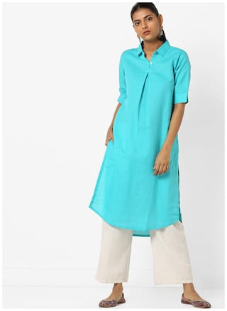 AVAASA By Reliance Trends Blue Kurta