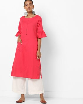 AVAASA By Reliance Trends Red Kurta