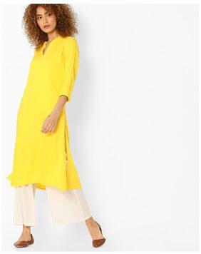 AVAASA By Reliance Trends Women Yellow Rayon Kurta