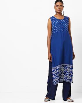 AVAASA MIX N' MATCH By Reliance Trends Blue Kurta