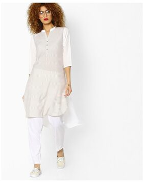AVAASA MIX N' MATCH By Reliance Trends White Crepe Kurtas