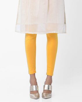 AVAASA MIX N' MATCH By Reliance Trends Yellow Ethnic Leggings