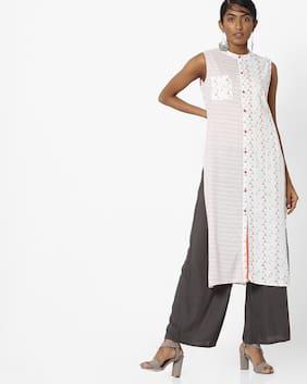 AVAASA MIX N' MATCH By Reliance Trends Women White Kurta